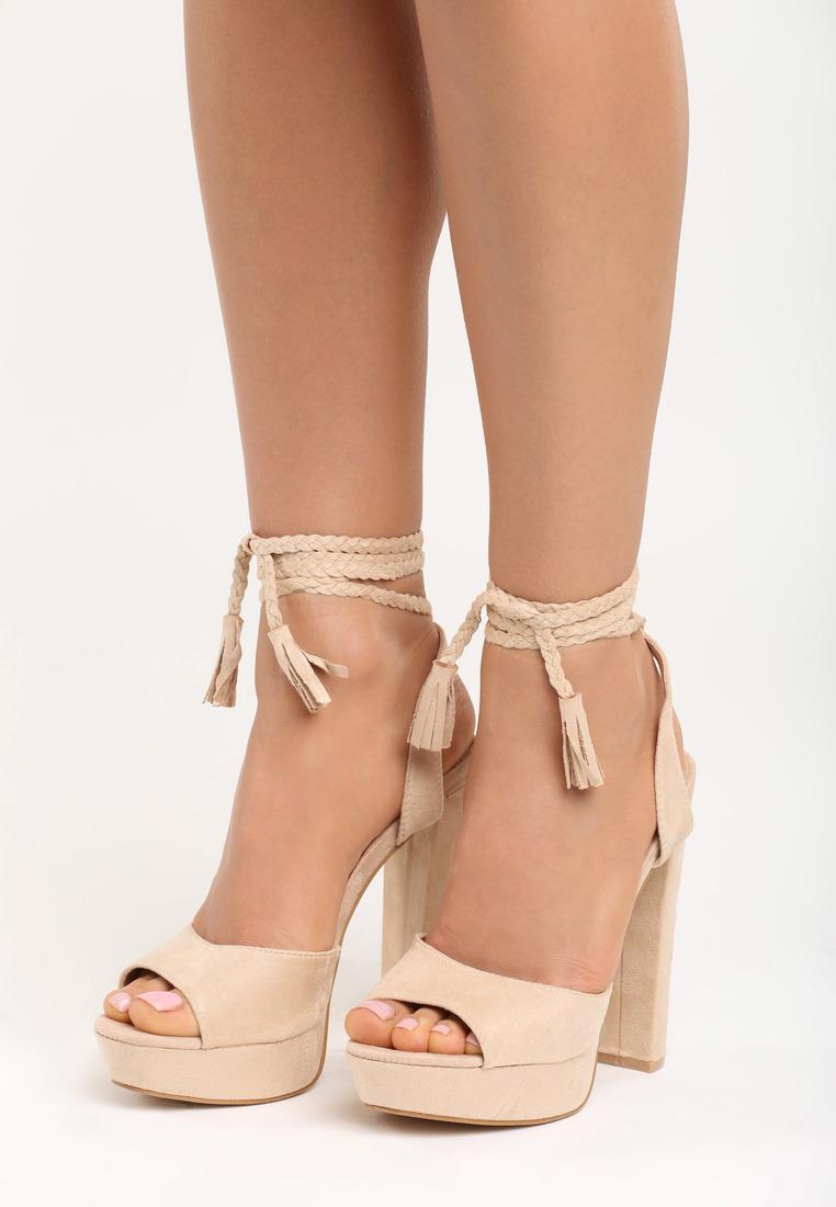 9ca1df2d2ce6 Dámske sandále na platforme béžové Ellie Veľkosť   35
