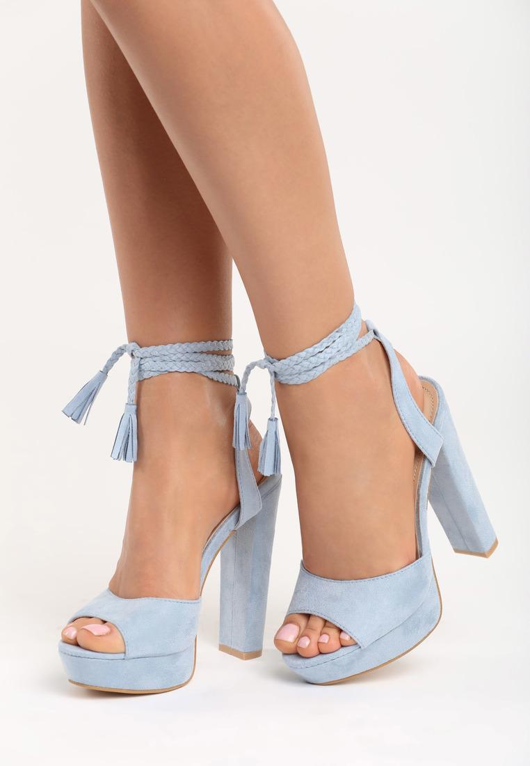 e9a8f871d945 Dámske sandále na platforme modré Ellie Veľkosť   35