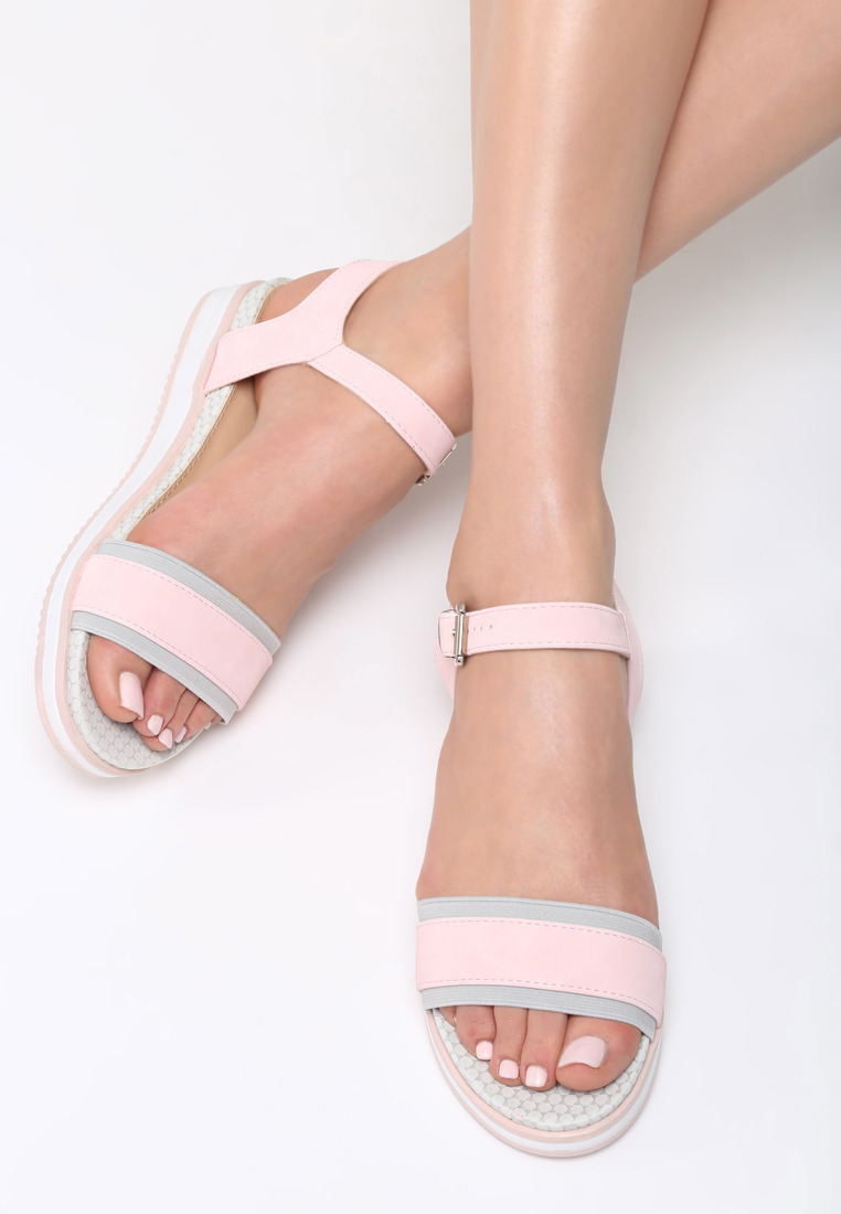 1c8d130818 Dámske sandále na platforme ružové Audrey Veľkosť   36