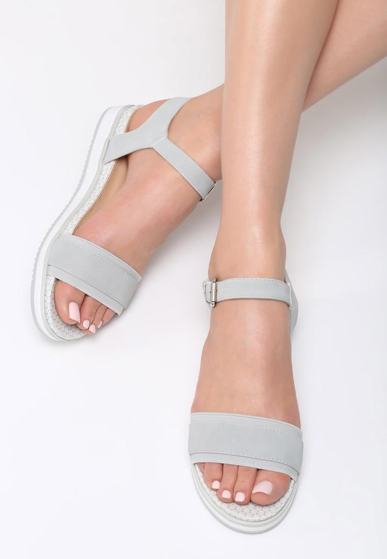 Dámske sandále na platforme šedé Audrey Veľkosť   36 645e96ae0f3