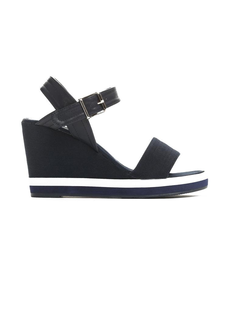 474c67d9ead1 Dámske sandále na platforme tmavo modré Alice Veľkosť   36