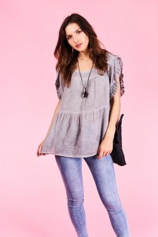 049d7429584ec Dámske tričko Sage Veľkosť UNI-verzálna Vyrobené z príjemného materiálu.  Pohodlné tričko, Farebné