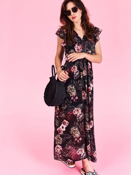 Dlhé letné šaty Megan Veľkosť UNI-verzálna Vyrobené z príjemného materiálu. Letné  pohodlné šaty d8e70841cb