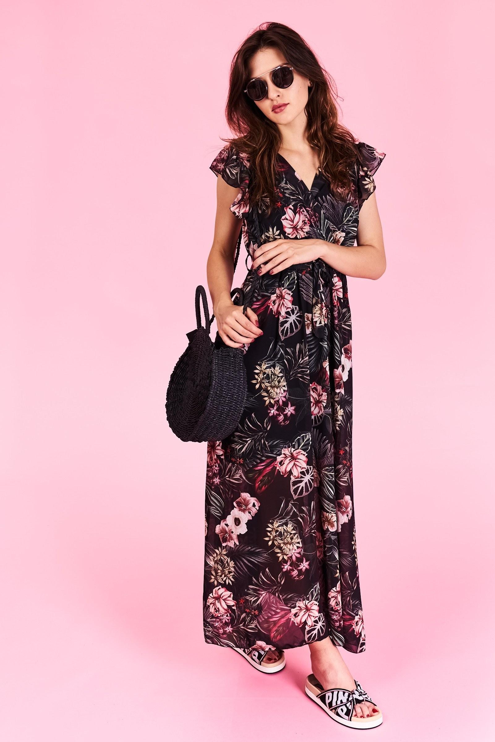 Dlhé letné šaty Megan Veľkosť UNI-verzálna Vyrobené z príjemného materiálu.  Letné pohodlné šaty 1d07ec96ada