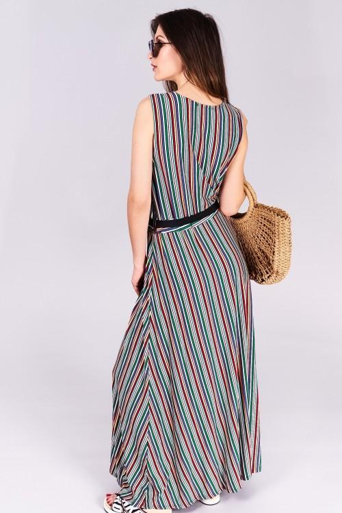 Dlhé letné šaty Evelyn Veľkosť UNI-verzálna Vyrobené z príjemného materiálu.  Letné pohodlné šaty 4204e31c29