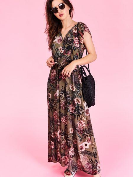 47b4a951d7 Dlhé letné šaty Megan Veľkosť UNI-verzálna Vyrobené z príjemného materiálu.  Letné pohodlné šaty