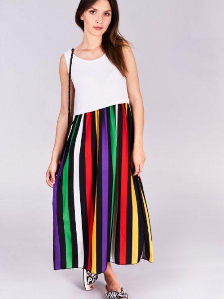 Dlhé letné šaty Emily Veľkosť UNI-verzálna Vyrobené z príjemného materiálu. Letné  pohodlné šaty 04b1f7406b