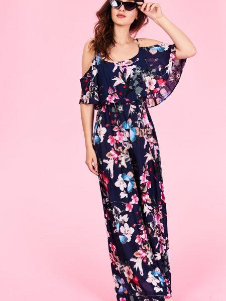 Dlhé letné šaty Rachel Veľkosť   S M a L XL Vyrobené z príjemného 45345ed84f