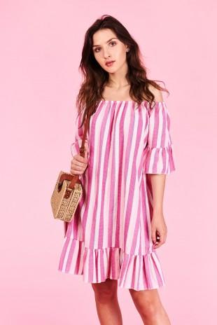Letné šaty Sophia Veľkosť UNI-verzálna Vyrobené z príjemného materiálu.  Letné pohodlné šaty Farebné ab30588b4a4