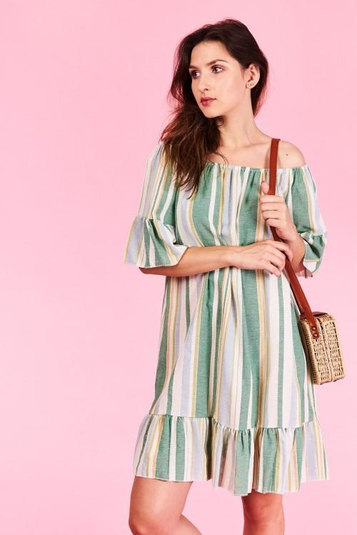Letné šaty Sophia Veľkosť UNI-verzálna Vyrobené z príjemného materiálu.  Letné pohodlné šaty Farebné 47feffd0a70