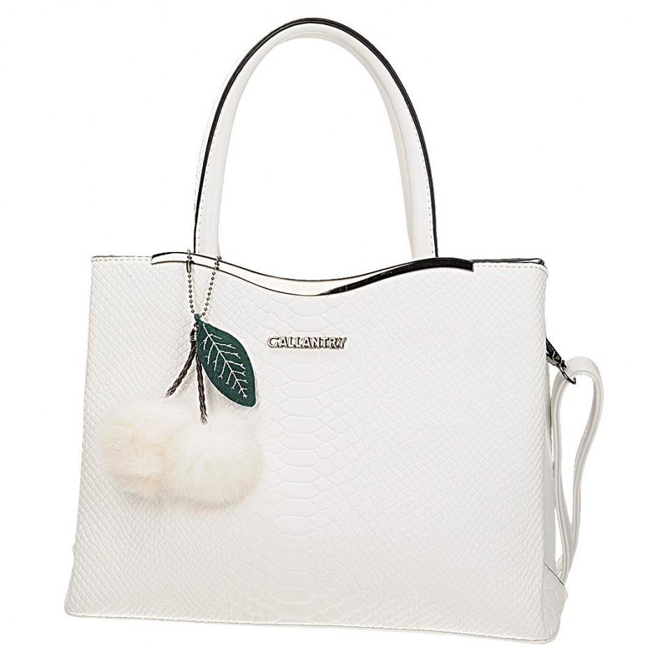 891d5a731 Dámska kabelka Gallantry 7329-1, v bielom alebo ružovom farebnom prevedení  je vyrobená z