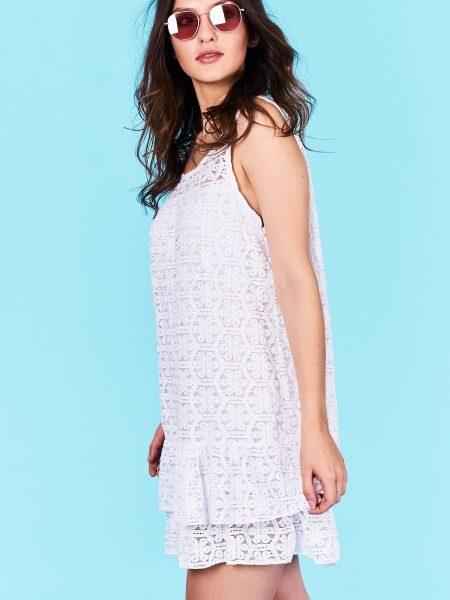 cad440e8a314 Dámske šaty biele Leilani Veľkosť UNI-verzálna Vyrobené z príjemného  materiálu. Pohodlné šaty