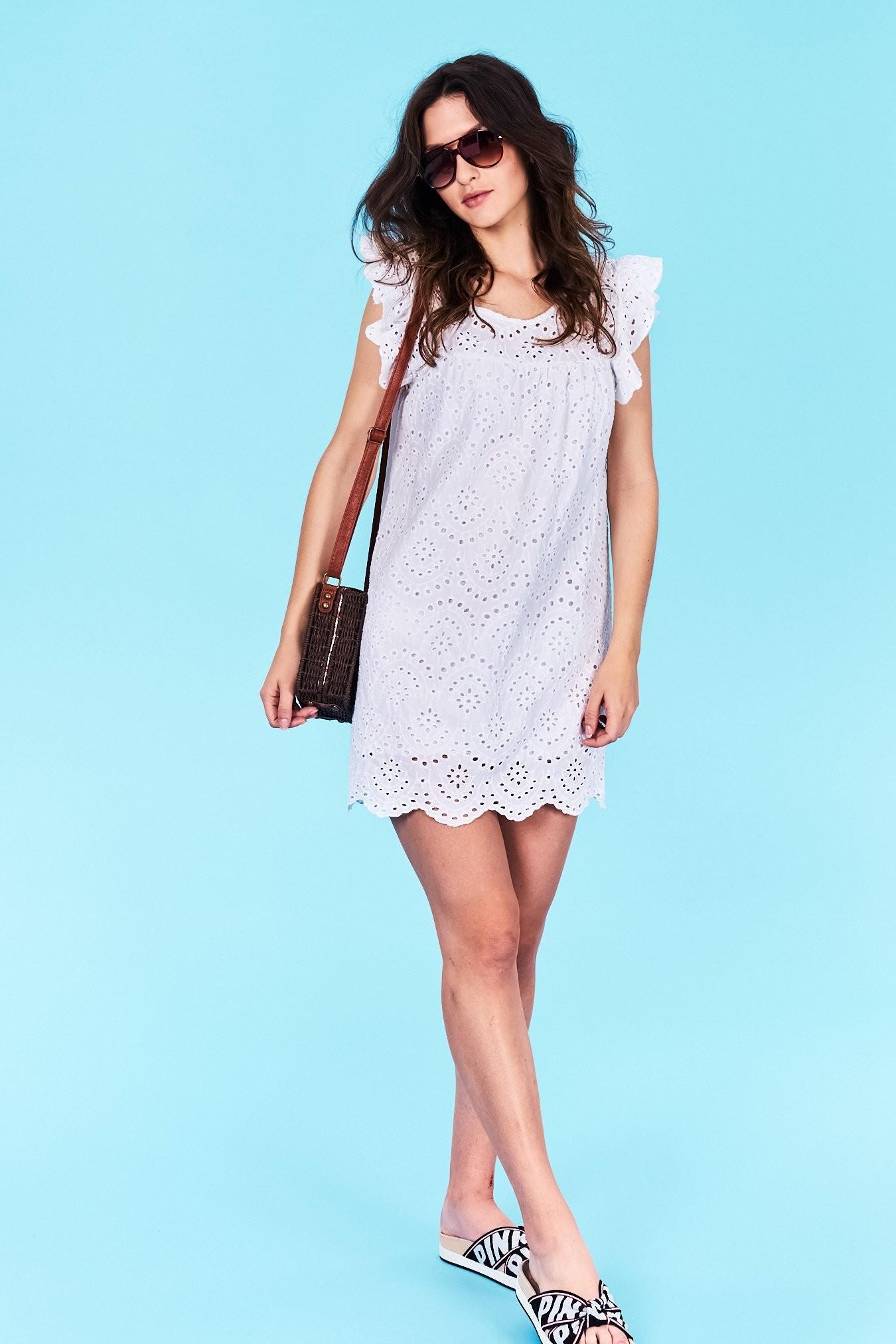 5609ca78d9ed Dámske šaty biele Margaret Veľkosť UNI-verzálna Vyrobené z príjemného  materiálu. Pohodlné šaty