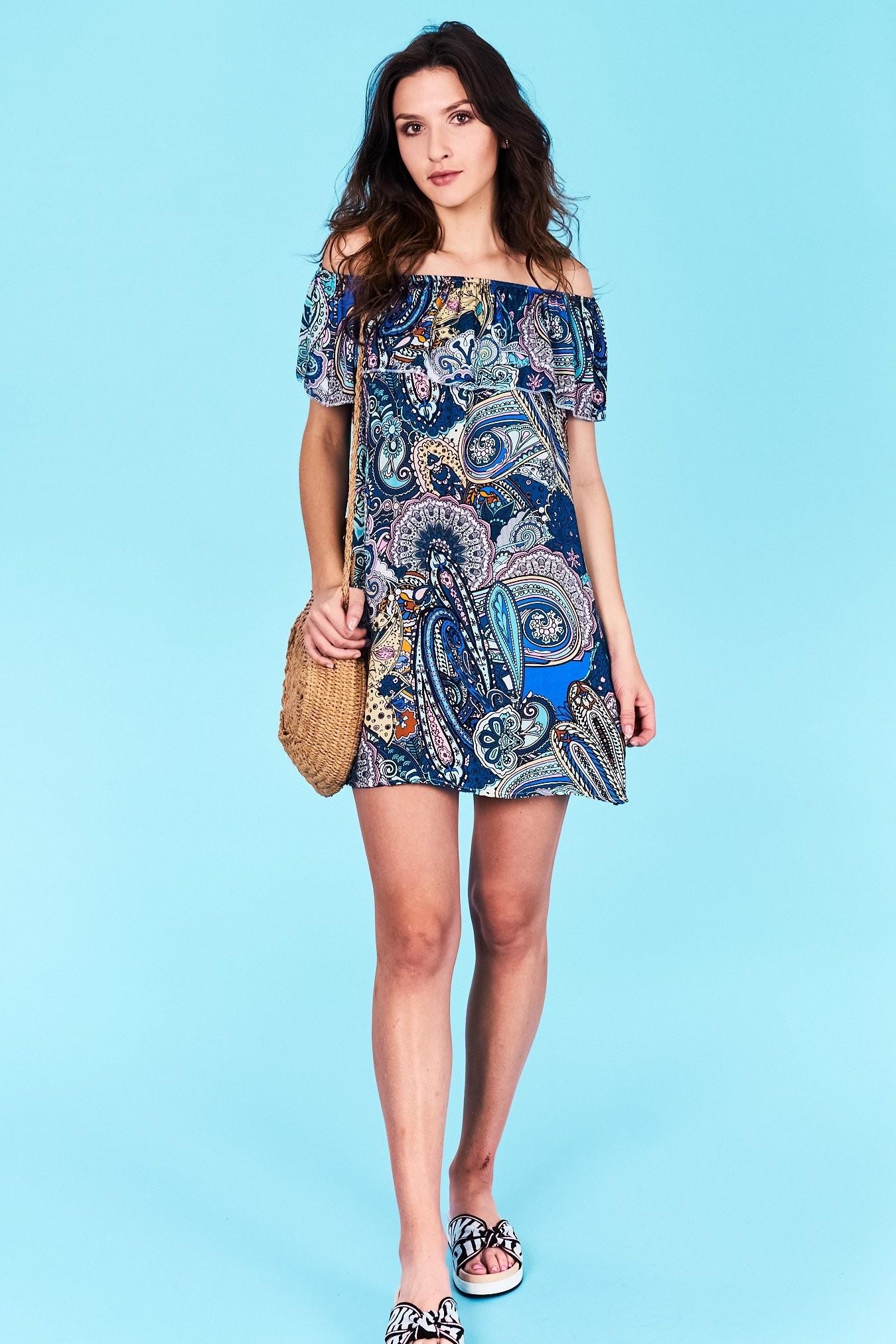 8789b3b7ddef Dámske letné šaty modrá Adalyn