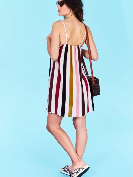 ae4f26930175 Dámske šaty prúžkované ružové Alyssa Veľkosť UNI-verzálna Vyrobené z  príjemného materiálu. Pohodlné šaty