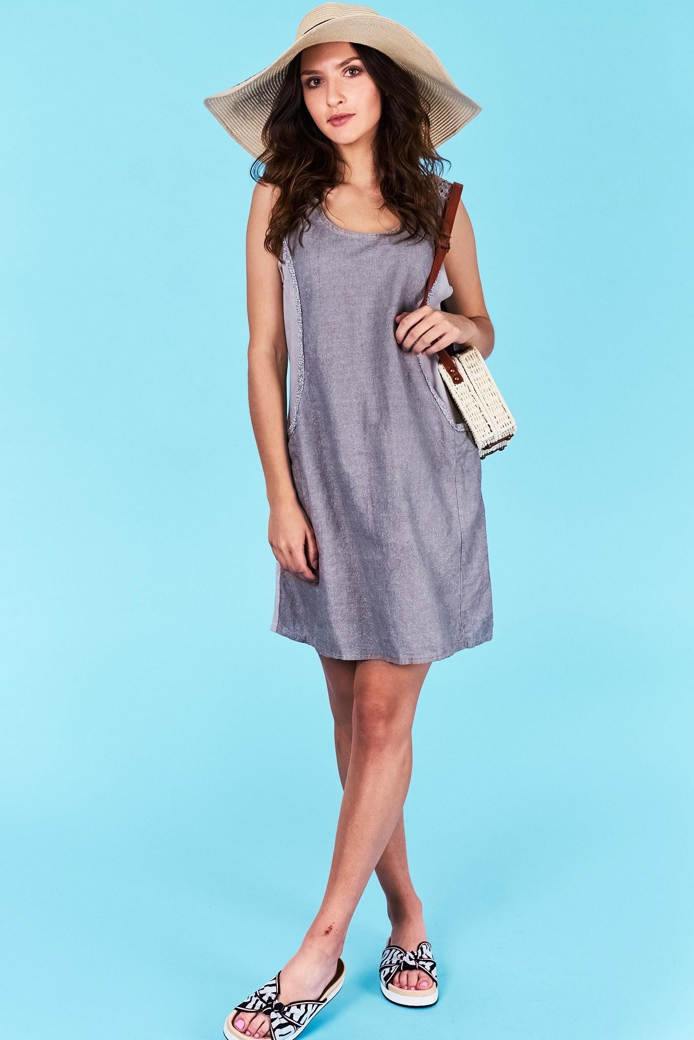 8a23bcc0a680 Dámske letné šaty šedé Khloe