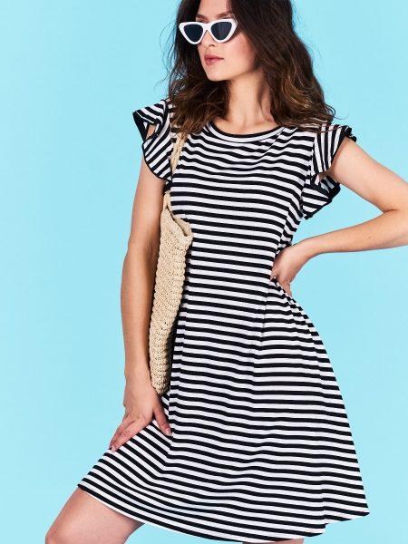 500ad3e31feb Dámske pruhované šaty čierne Jasmine Veľkosť UNI-verzálna Vyrobené z príjemného  materiálu. Pohodlné šaty