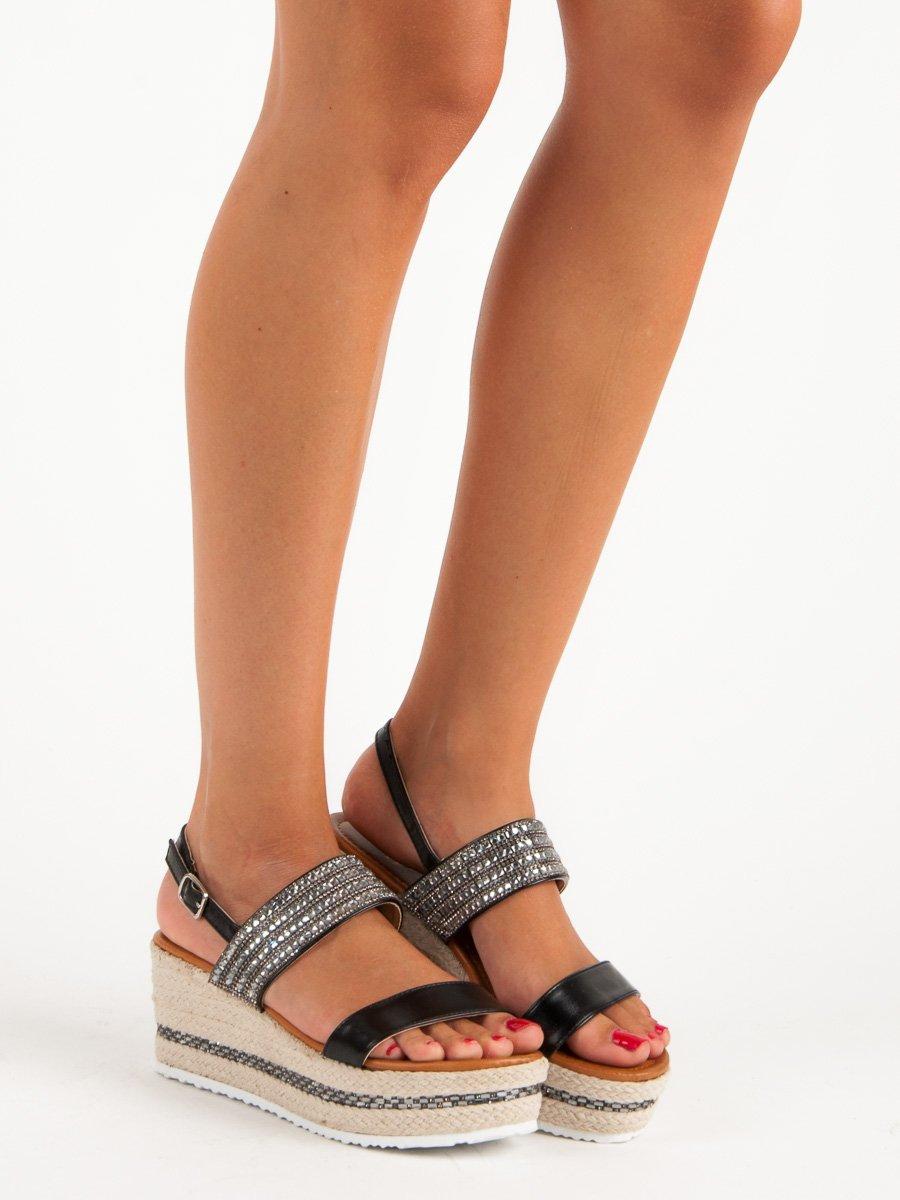 68be0f67ac80 Dámske sandále na platforme čierne Bailey Veľkosť   36