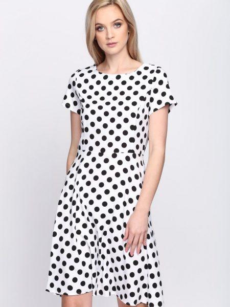 07c3dffd62ab Biele bodkované šaty Avery