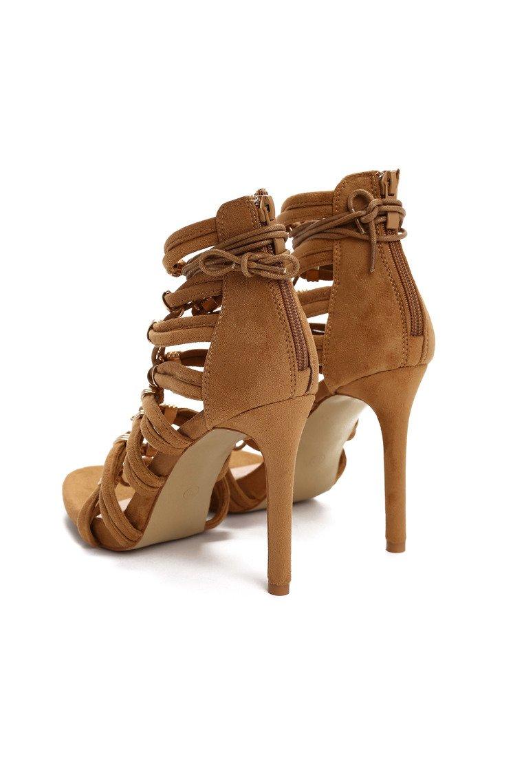 Dámske sandále hnedé Saskia Veľkosť   35 2d1a1371fdb