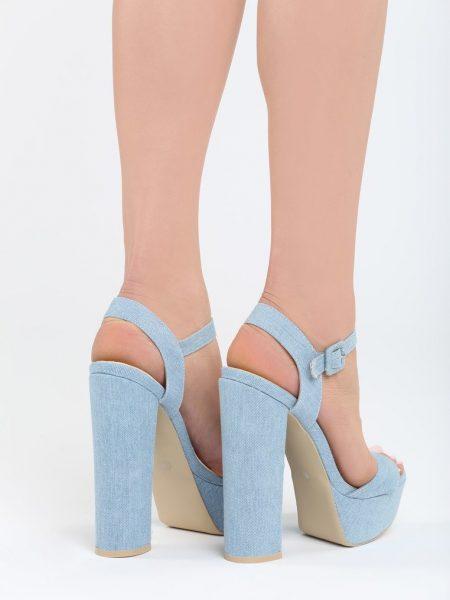 e2419fa4c5f4 Dámske sandále na platforme modré Zahra Veľkosť   35
