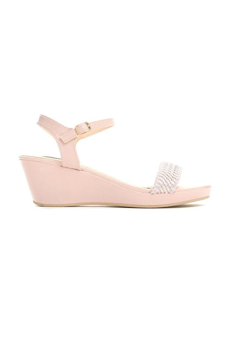 51fa41718c Dámske sandále na platforme ružové Molly Veľkosť   36