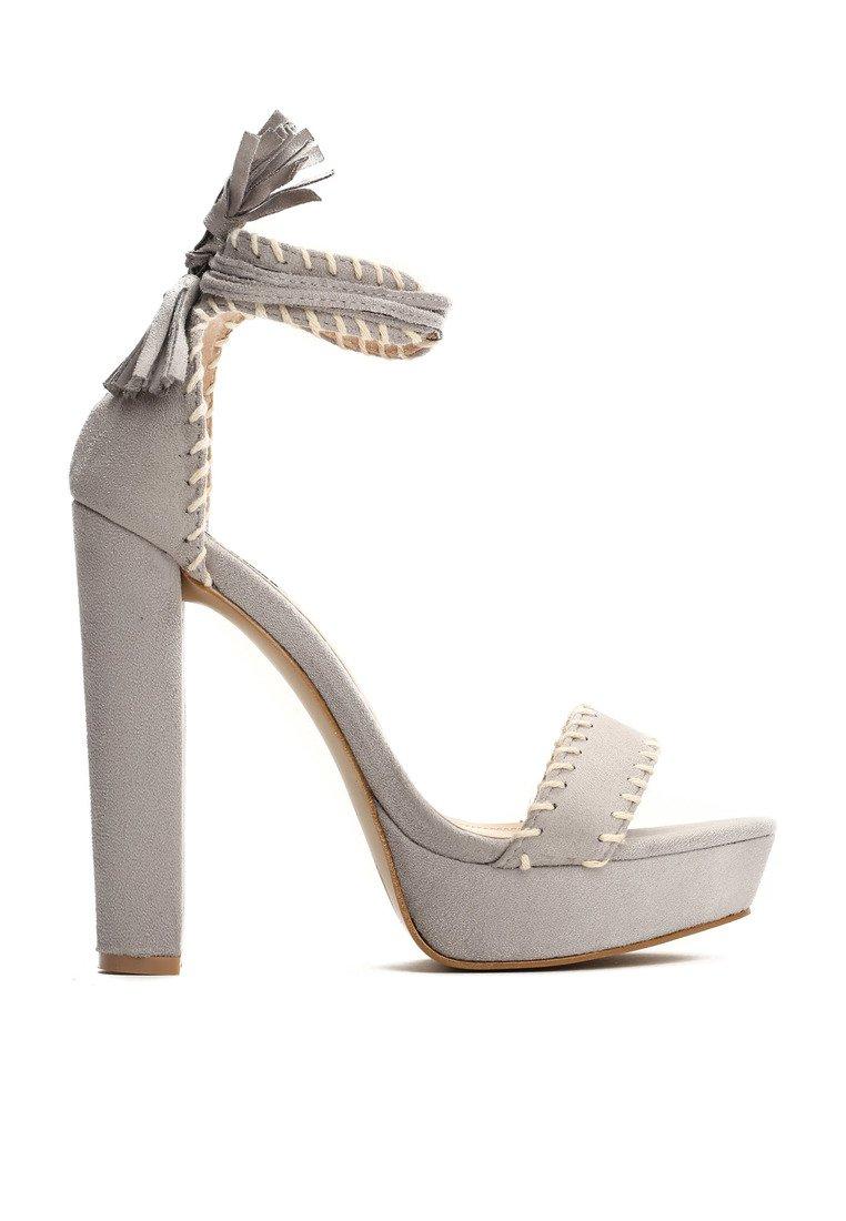 62ad130dfd0c Dámske sandále na platforme šedé Vivien Veľkosť   35