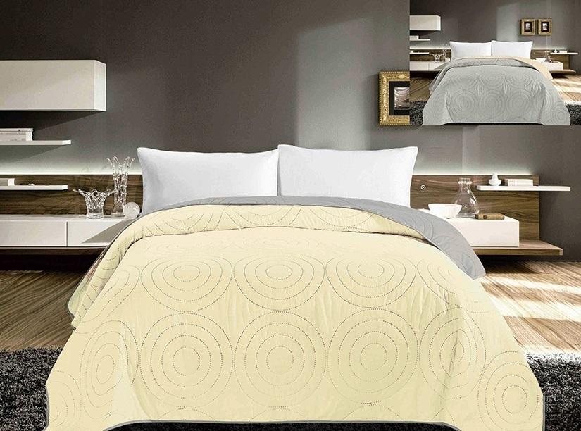 8e330a3876579 Prehoz na posteľ žltý dvojstanný JANCX-1225 Prehoz na posteľ dvojstranný  žltý. Materiálové zloženie