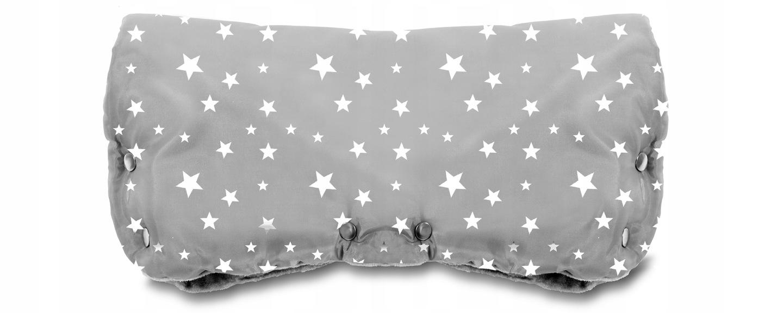 Rukavice na kočík Fobo PRO - sivé s hviezdičkami