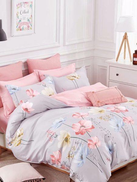 Súprava šedo-ružová Karina satén obsahuje: 1 x posteľná obliečka : 140 x 200 cm a 160 x 200 cm +/- 4% 1 x obliečka na vankúš : 70 x 80 cm+/- 2% (tieto návliečky sú vhodné aj na vankúše 70x90 cm) Označenie produktu: JAPBC-12555