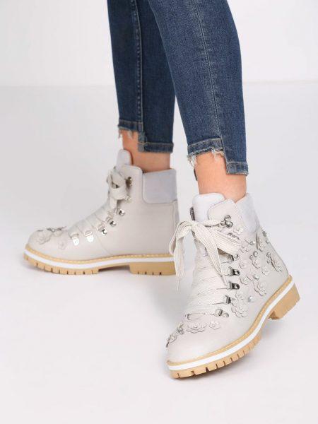 Dámske členkové topánky v sivej farbe Abigail 1223944 6e2089b039d