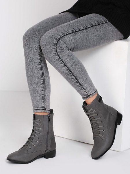 dd8cfd453a45a Dámske členkové topánky v sivej farbe Ami | Jarka.sk | móda • štýl ...