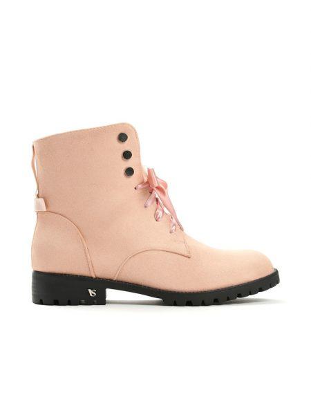 Dámske kotníkové čižmy v ružovej farbe Catthy - 1 ad3010a9ceb