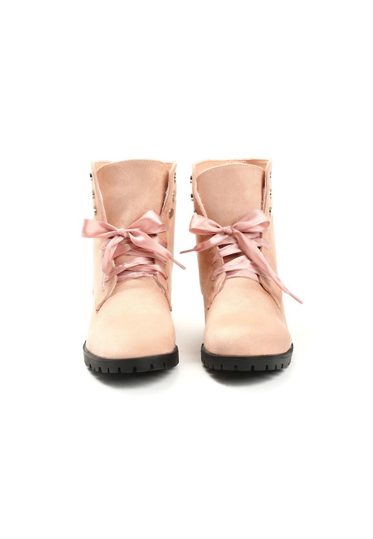 5bcebc44cb Dámske kotníkové čižmy v ružovej farbe Catthy - 4