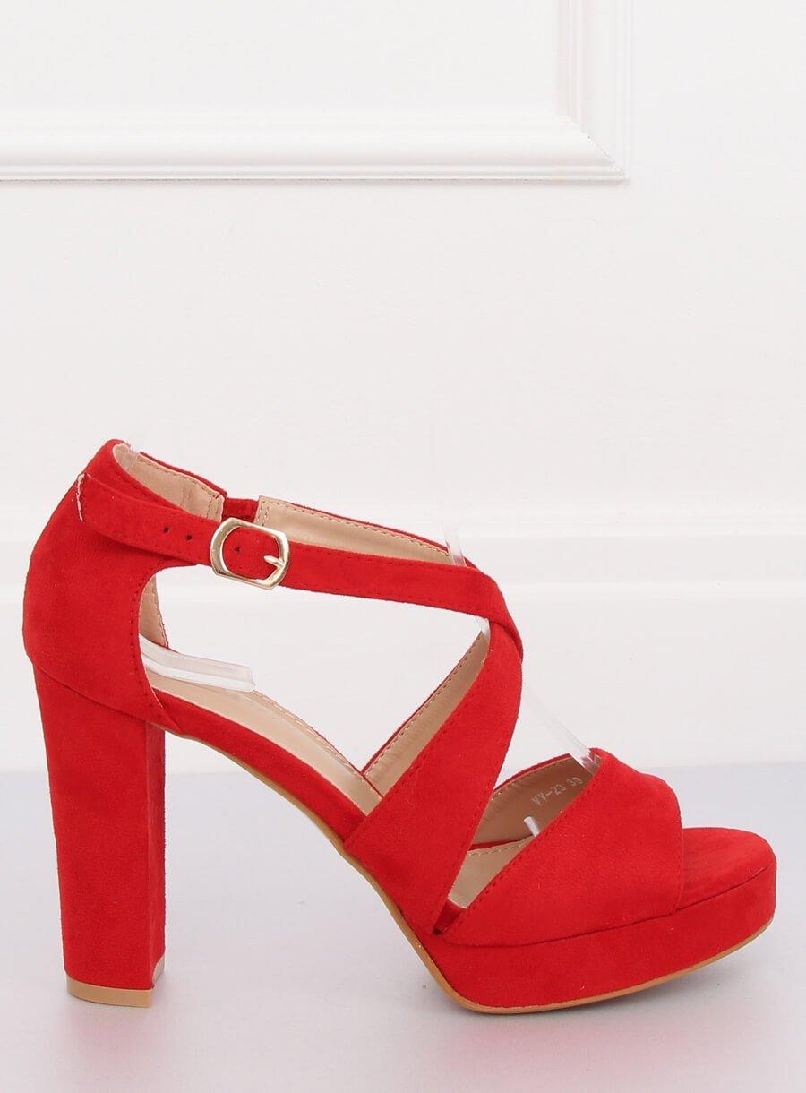 5608242111 Dámske sandále na platforme červené Melissa 15VV-23CE
