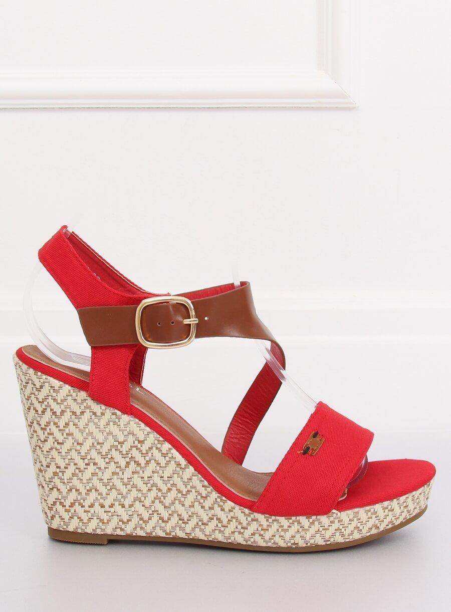 e5b9ac092fd9 Dámske sandále na platforme červené Sophy 15BL-360CE