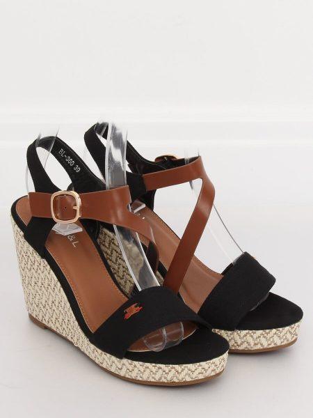 1e1e5c79e3 Dámske sandále na platforme čierne Sophy - 1