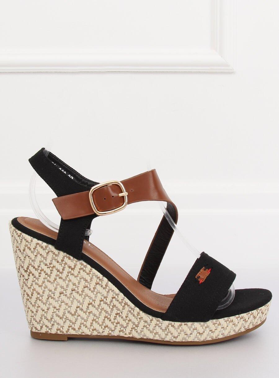 c0d825b071 Dámske sandále na platforme čierne Sophy - 3