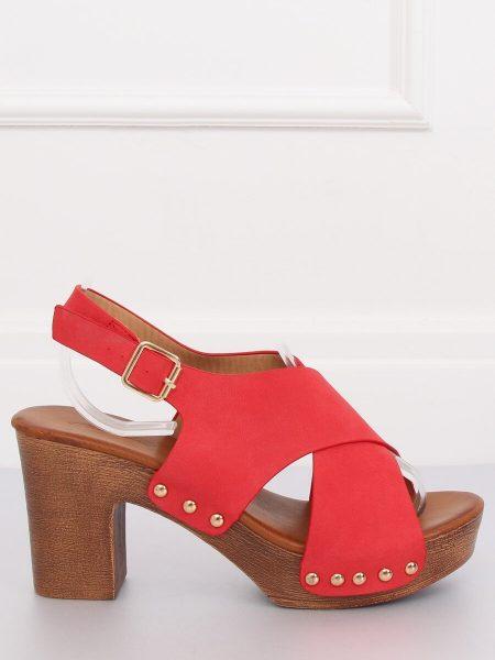 f725be1c0629 Dámske sandále v červenej farbe Chloe - 1
