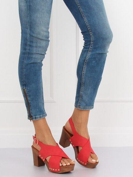 38c6d5a01aa6 Dámske sandále v červenej farbe Chloe 15D-131CE