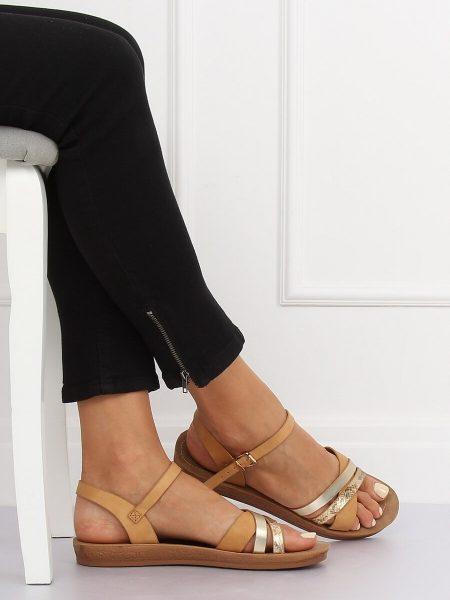 643af2e3a3 Dámske sandále v hnedej farbe Carla - 2